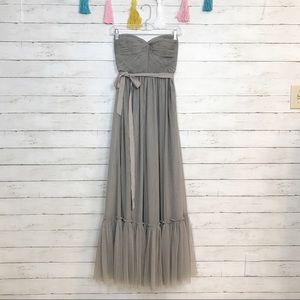 BHLDN Va Et Vien Gray Niceties Wedding Dress Sz 0